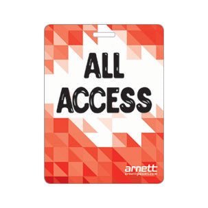 Backstage Laminated Passes and Badges All Access