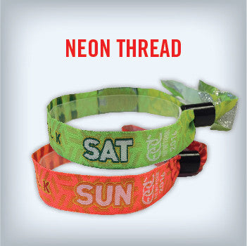 Cloth Wristband with Neon Color Thread