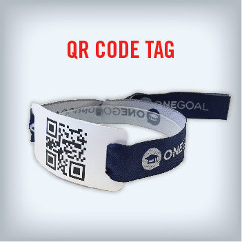 Cloth wristbands with QR Code Tag