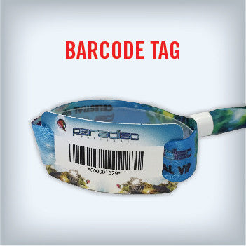 Cloth Wristband with Barcode Tag