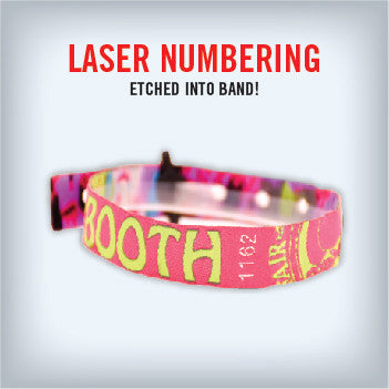 Cloth Wristband with Laser Numbering