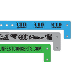 Custom Vinyl Wristbands | Great for Special Events! - Backstage Supplies