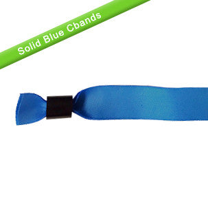 Blue cloth wristbands with sliding lockers