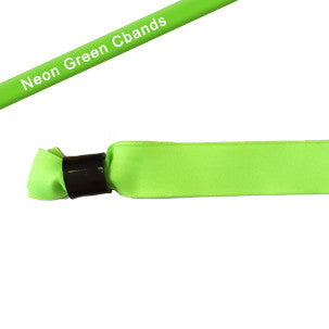 Neon Green cloth wristbands with sliding lockers