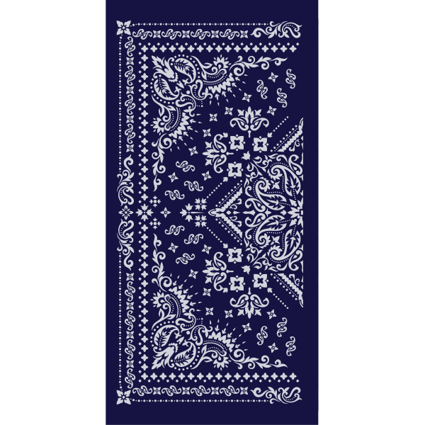 Bandana Traditional Navy Neck Gaiter - Backstage Supplies