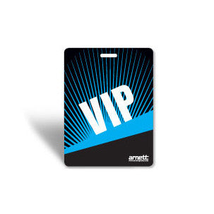 Laminated event badge VIP Pass - Blue