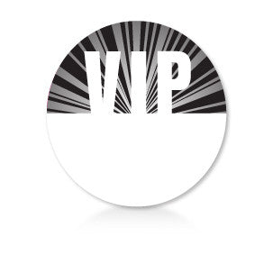 Satin Event & Tour Badges Black VIP