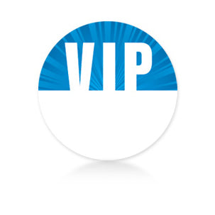 Blue Circle Satin Sticky Pass - VIP