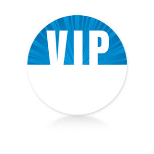 Satin Event & Tour Badges Blue VIP