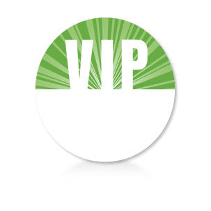Satin Event & Tour Badges Green VIP