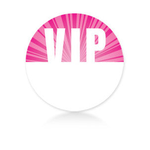 Satin Event & Tour Badges Pink VIP