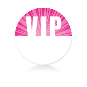 Pink Circle Satin Sticky Pass - VIP