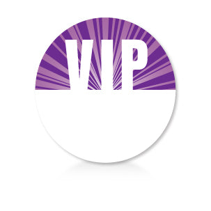 Satin Sticky Pass - Purple Circle VIP - Backstage Supplies