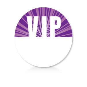 Satin Event & Tour Badges Purple VIP