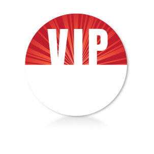 Satin Event & Tour Badges Red VIP