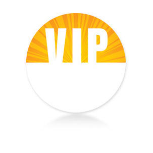 Yellow Circle Satin Sticky Pass - VIP