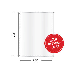 Letter Size Laminating Pouches 10mil - Backstage Supplies