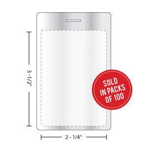 Luggage Tag Laminating Pouch 10MIL - Backstage Supplies