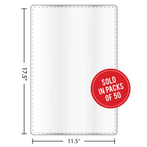 Menu Size Laminating Pouches 10mil - Backstage Supplies
