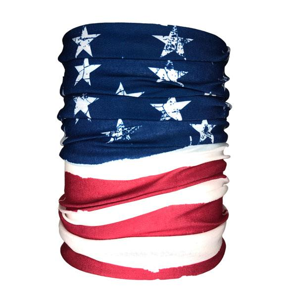 Distressed US Flag Neck Gaiter - Backstage Supplies