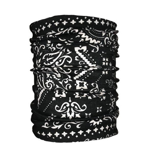 Bandana Traditional Black Neck Gaiter - Backstage Supplies