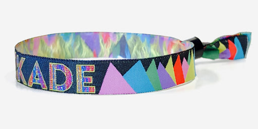 cloth wristband with metallic thread