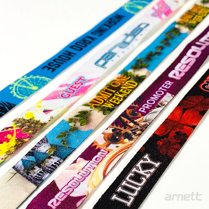 Custom Full Color Cloth Wristbands - Backstage Supplies