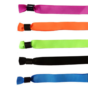 Economy Solid Color Cloth Wristbands - Backstage Supplies