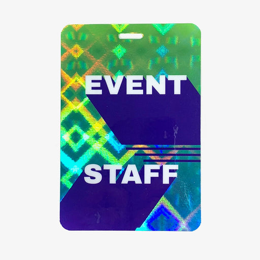 Holographic Event Staff Backstage Pass