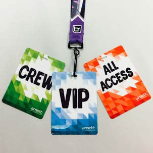Laminated Tour Passes and Badges - Order Today and Receive Tomorrow! - Backstage Supplies