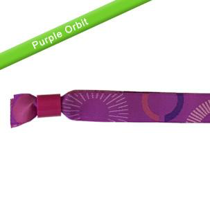 Cloth Wristband Purple Orbit