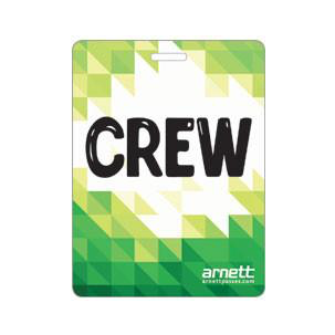 Crew Laminated Badge - Backstage Supplies