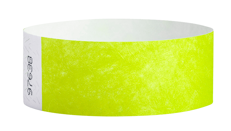 Lime Green Tyvek Solid Wristbands - Backstage Supplies
