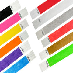 Tyvek Solid Color Wristbands - Free Shipping on Wristbands!