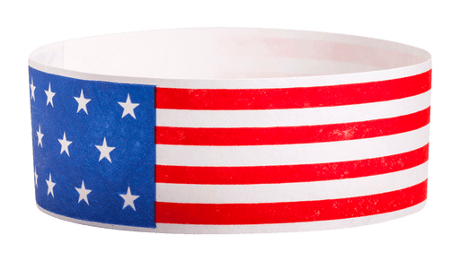 American Flag Tyvek Solid Wristband