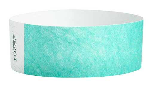 Aqua Tyvek Solid Wristbands