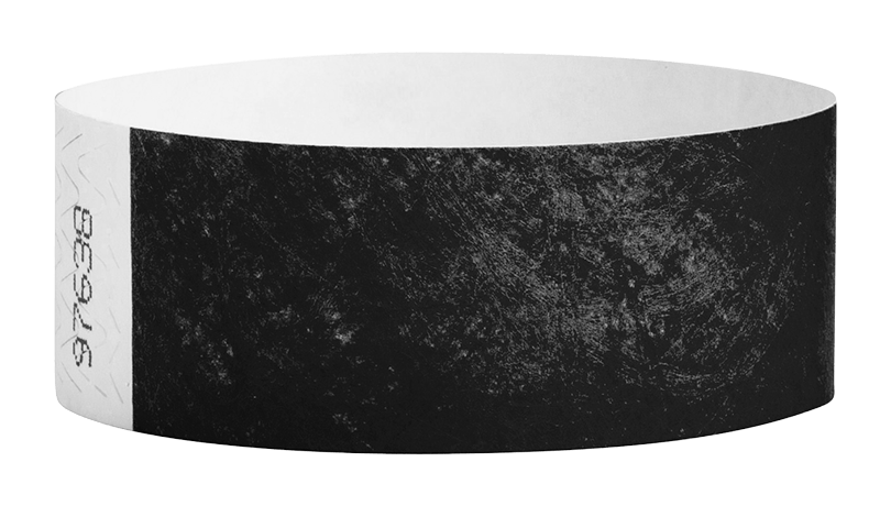 Black Tyvek Solid Wristbands - Backstage Supplies