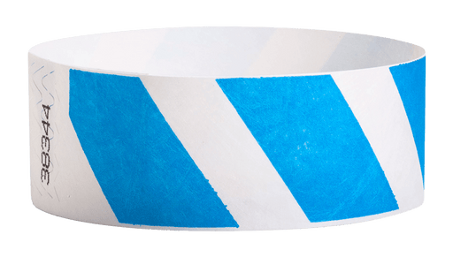 "Blue Stripes 1"" Tyvek Wristband"