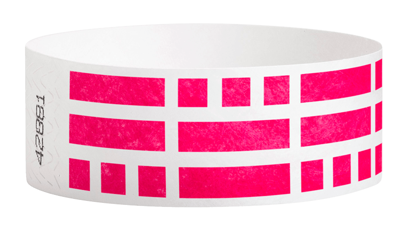 "Brick Pattern 1"" Tyvek Wristbands - Backstage Supplies"