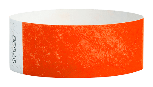 Coral Red Tyvek Solid Wristbands - Backstage Supplies