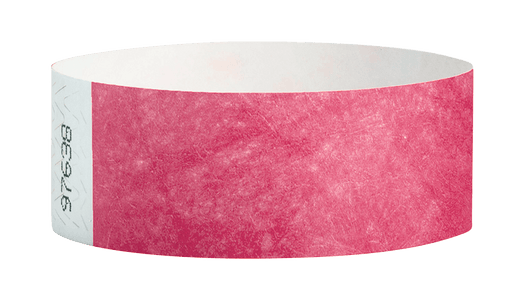 Cranberry Tyvek Solid Wristbands