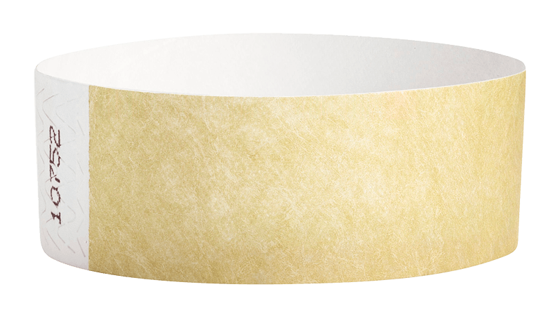 Gold Tyvek Solid Wristbands
