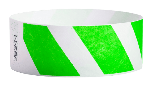 "Green Stripes 1"" Tyvek Wristband"