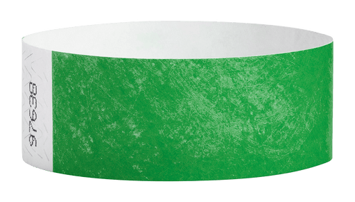 Kelly Green Tyvek Solid Wristbands - Backstage Supplies