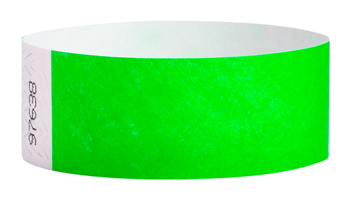 Neon Green Tyvek Solid Wristbands - Backstage Supplies