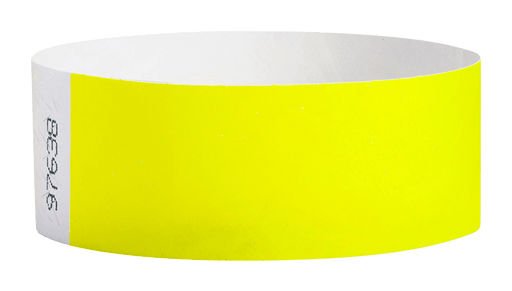 Neon Yellow Tyvek Solid Wristbands - Backstage Supplies