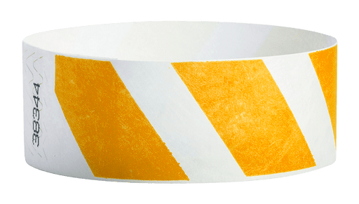 "Orange Stripes 1"" Tyvek Wristband"