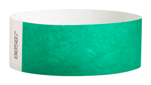 Pantone Green Tyvek Solid Wristbands - Backstage Supplies