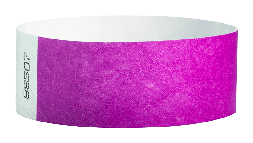 Pantone Purple Tyvek Solid Wristbands - Backstage Supplies