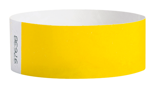Pantone Yellow Tyvek Solid Wristbands - Backstage Supplies